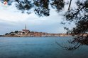 View of the Rovinj town center from St. Catherine island